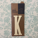 Papermania Bare Basics Wooden Adhesive LETTER K Wood