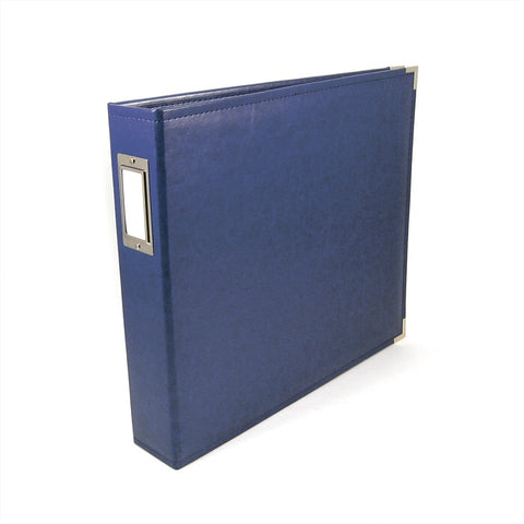 We R Classic Leather Album COBALT Blue D Ring Scrapbook Scrapbooksrus