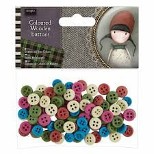 Santoro London COLOURED BUTTONS 100pc Scrapbooksrus