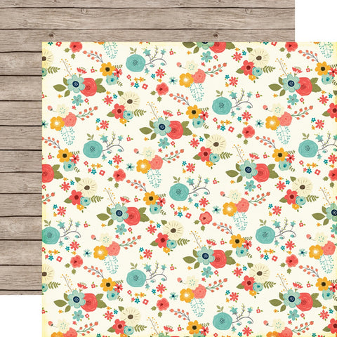 "Echo Park The Story Of Our Family FLORAL 12""x12"" Scrapbook Paper Scrapbooksrus"
