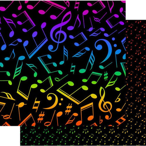 Scrapbook Customs Music Notes Neon @ScrapbooksRUs