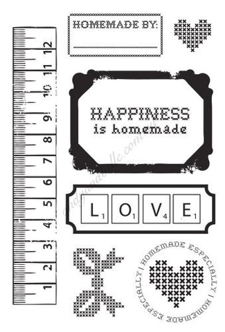 "KaiserCraft HOMEMADE Clear Acrylic Stamps 4""X6"" 7 pc - Scrapbook Kyandyland"