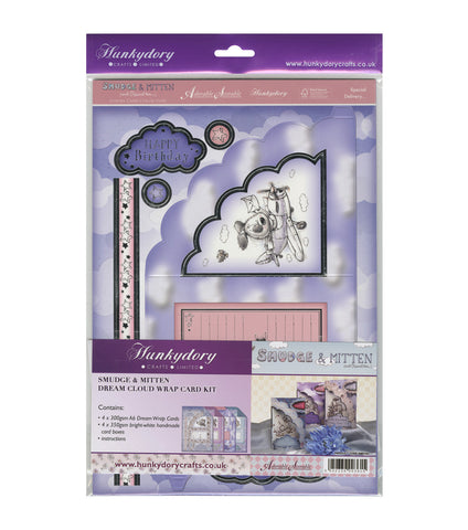 Hunkydory SMUDGE & MITTEN Dream Cloud Card Kit 8 pc - Scrapbook Kyandyland