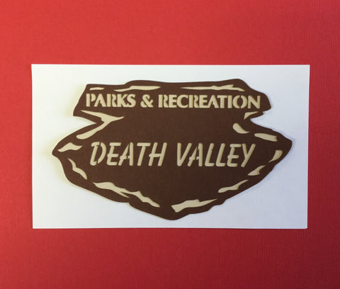 "National Parks DEATH VALLEY Title Travel Laser Cuts 3""X 5"" 1pc Scrapbooksrus"