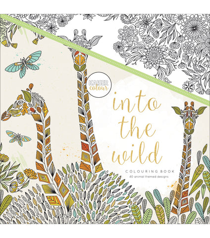 Kaisercraft INTO THE WILD Adult Coloring Book 40pc Scrapbooksrus