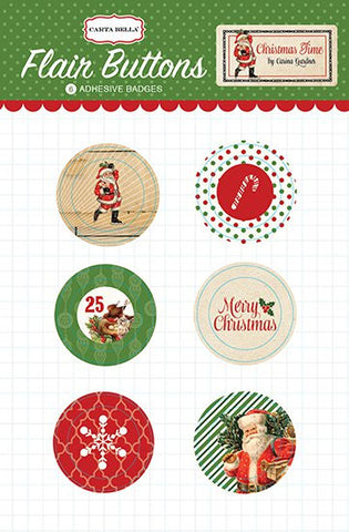 Carta Bella Christmas Time FLAIR BUTTONS 6pc