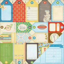Crate Paper LITTLE BOY BLUE 12X12 Scrapbook Baby Sheet - Scrapbook Kyandyland