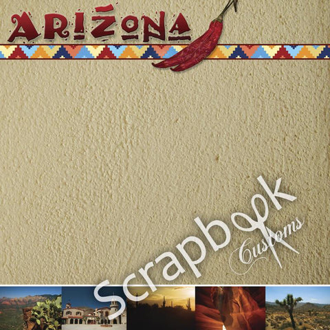 "ARIZONA 12""X12"" Scrapbook Customs Paper Scrapbooksrus"