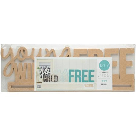 Kaisercraft YOUNG, WILD & FREE Wall Art 3D Wood DIY 2pc Scrapbooksrus