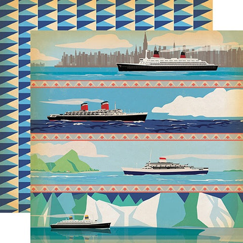 "Carta Bella Let's Cruise SEA YOU LATER 12""x12"" Scrapbooks Paper Scrapbooksrus"