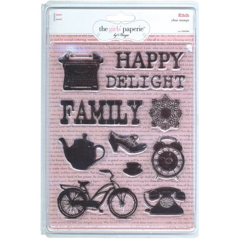 Advantus The Girls Paperie KITCH Clear Stamp 11pc - Scrapbook Kyandyland
