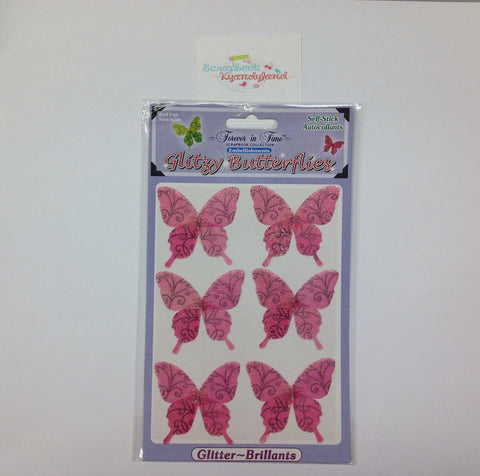 Forever in Time GLITZY BUTTERFLIES Stickers - Scrapbook Kyandyland