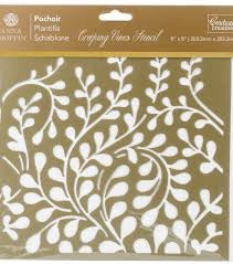 "Couture Creations Anna Griffin CREEPY VINES Stencils 8"" x 8"" Scrapbooksrus"