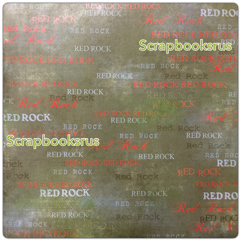 Red Rock Green Lush Scrapbook Paper Scrapbooksrus