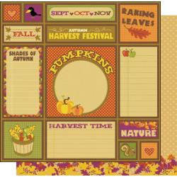 "Best Creation HELLO FALL Collection 12""X12"" Paper - Scrapbook Kyandyland"