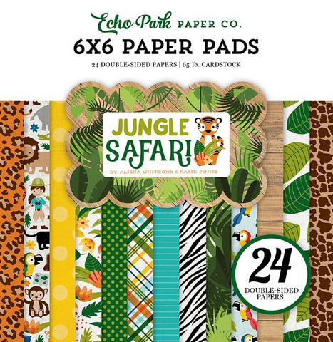 "Echo Park JUNGLE SAFARI Paper Pad 6""X6"""