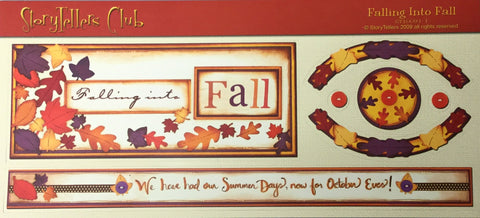 "StoryTellers FALLING INTO FALL  1-1 DIECUTS 3""X13"" Scrapbooksrus"