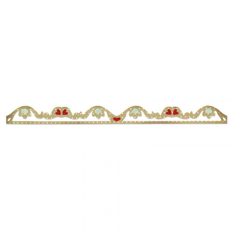 Sizzix Sizzlits Decorative Strip ROMANTIC RUFFLE Die Border