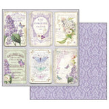 "Stamperia Scrapbooking Paper Pad 12""X12"" LILAC FLOWERS Scrapbooksrus"