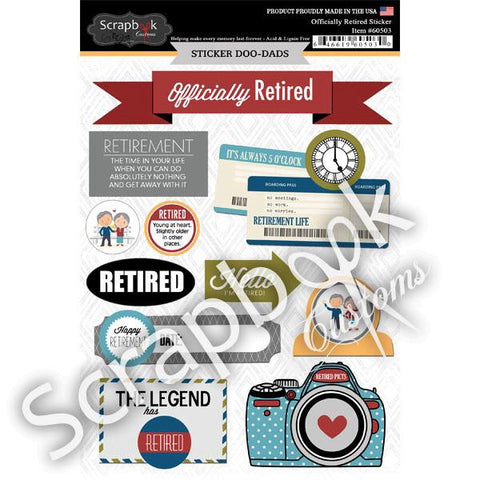 "Scrapbook Customs OFFICIALLY RETIRED 8""X6""STICKERS 11pc - Scrapbook Kyandyland"