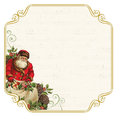 "Kaisercraft Silent Night SANTA LIST  12""X12""  Foil Scrapbook Paper Scrapbooksrus"