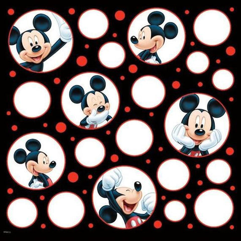 "Disney MICKEY MOUSE POSES 12""x12"" Scrapbook Paper Scrapbooksrus"