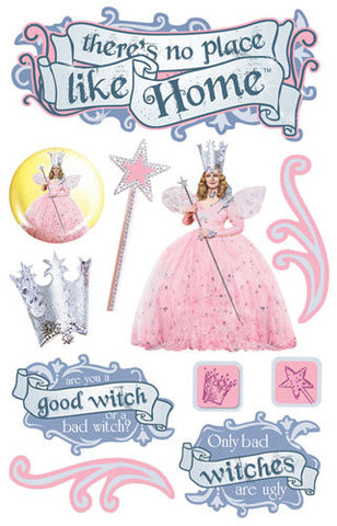 Paper House GLINDA The Wizard Of Oz 3D Stickers 10pc - Scrapbook Kyandyland