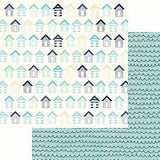 Kaisercraft Summer Splash BEACH HUTS 12X12 Scrapbook Paper Scrapbooksrus