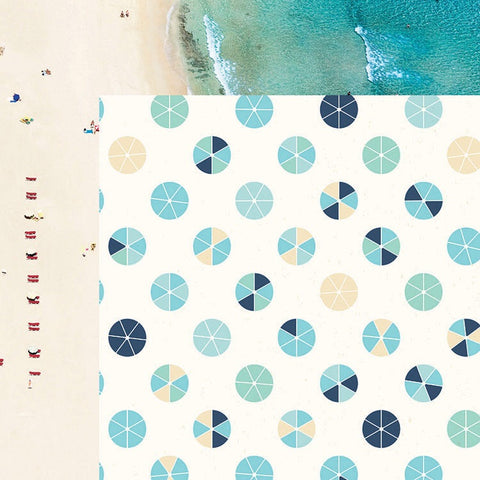 Kaisercraft Summer Splash BEACH UMBRELLAS 12X12 Scrapbook Paper Scrapbooksrus