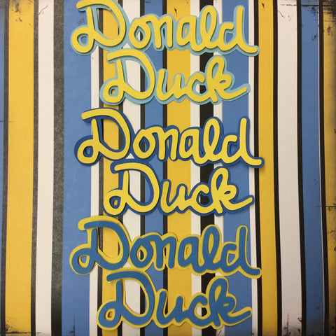 Disney DONALD DUCK TITLE Custom Scrapbooksrus