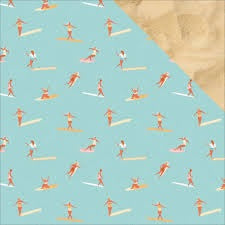 Kaisercraft Summer Splash SURFERS 12X12 Scrapbook Paper Scrapbooksrus