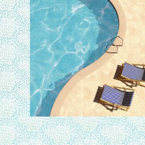 Kaisercraft Summer Splash POOLSIDE 12X12 Scrapbook Paper Scrapbooksrus
