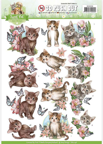 Amy Design SWEET PET CAT 3D Push Out Diecuts Scrapbooksrus