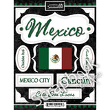 MEXICO KIT #1 Sightseeing Discover Travel Scrapbook Paper Stickers - Scrapbook Kyandyland