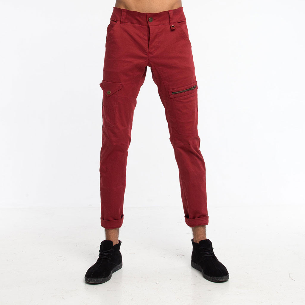 Men's Bottoms - 3SMOOVE JEAN - Canvas - Maroon - PEACEfits