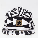 Accessories - 5 PANEL SNAPBACK HAT - X-TRiBE - White/Black - PEACEfits
