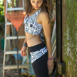 BRAZILIAN LEGGING BIG FUNK Black/White (lifestyle) PEACEfits