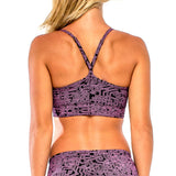 SPORTS BRA A-Maze II Sky/Purple (back view) PEACEfits