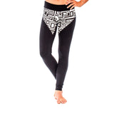 BRAZILIAN LEGGING BIG FUNK Black/White (front view) PEACEfits