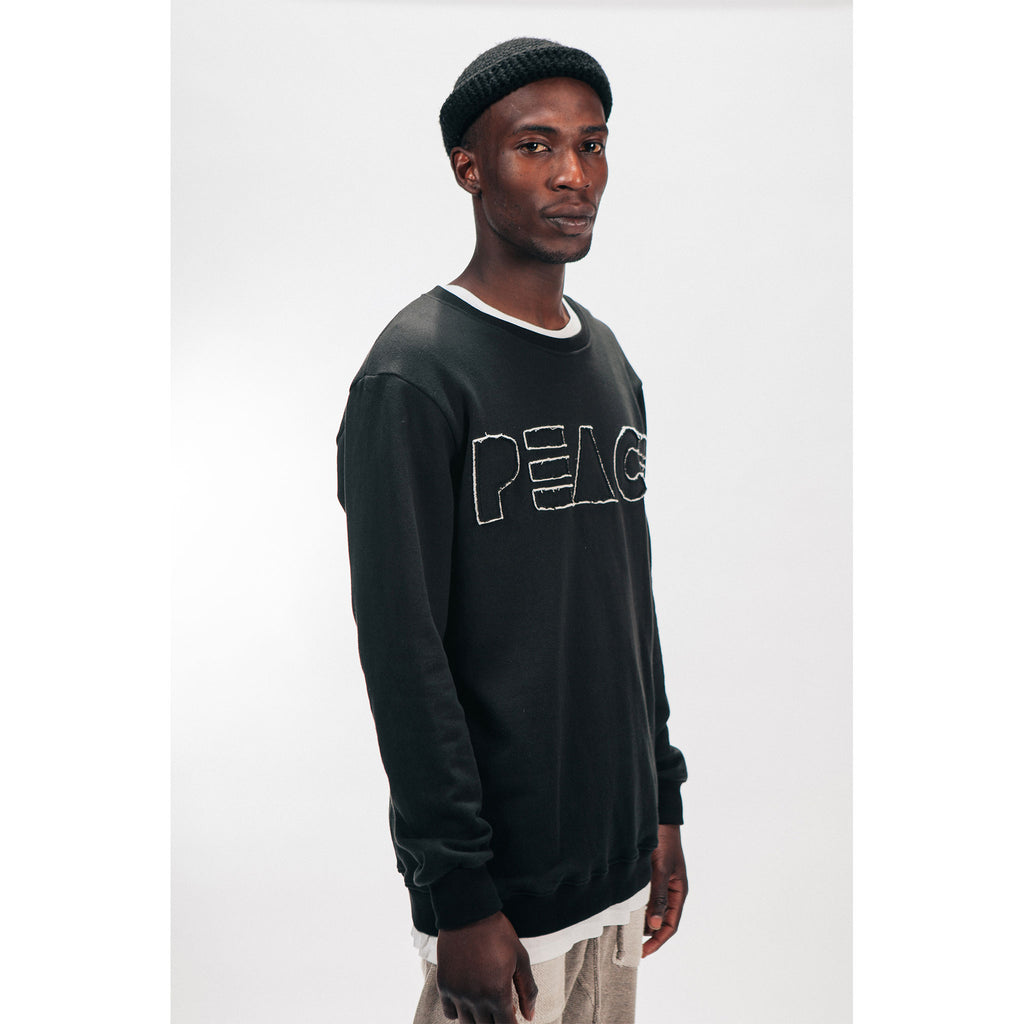 CREW NECK SWEATSHIRT [PEACE CUTOUT] - PEACE FITS