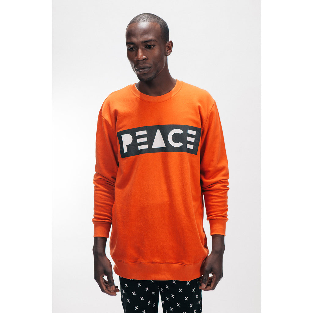 CREW NECK SWEATSHIRT [PEACE] - PEACE FITS