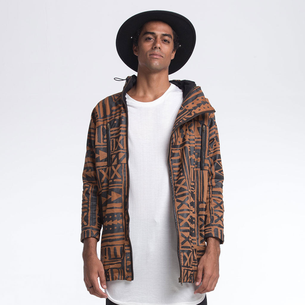 Men's Outerwear - DOIN' IT IN THE PARKA - X-TRiBE Coffee/Black - PEACEfits