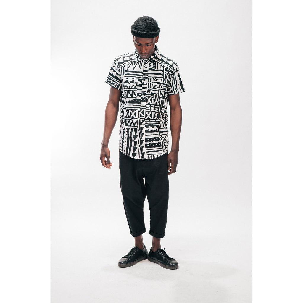 Men's Drop Chino Pant Black Outernational PEACE FITS