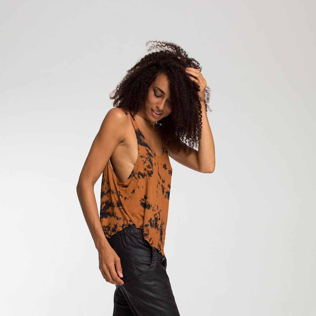 Women's Top - FREESTYLE TANK - Smoke Dye - Terracotta - PEACEfits