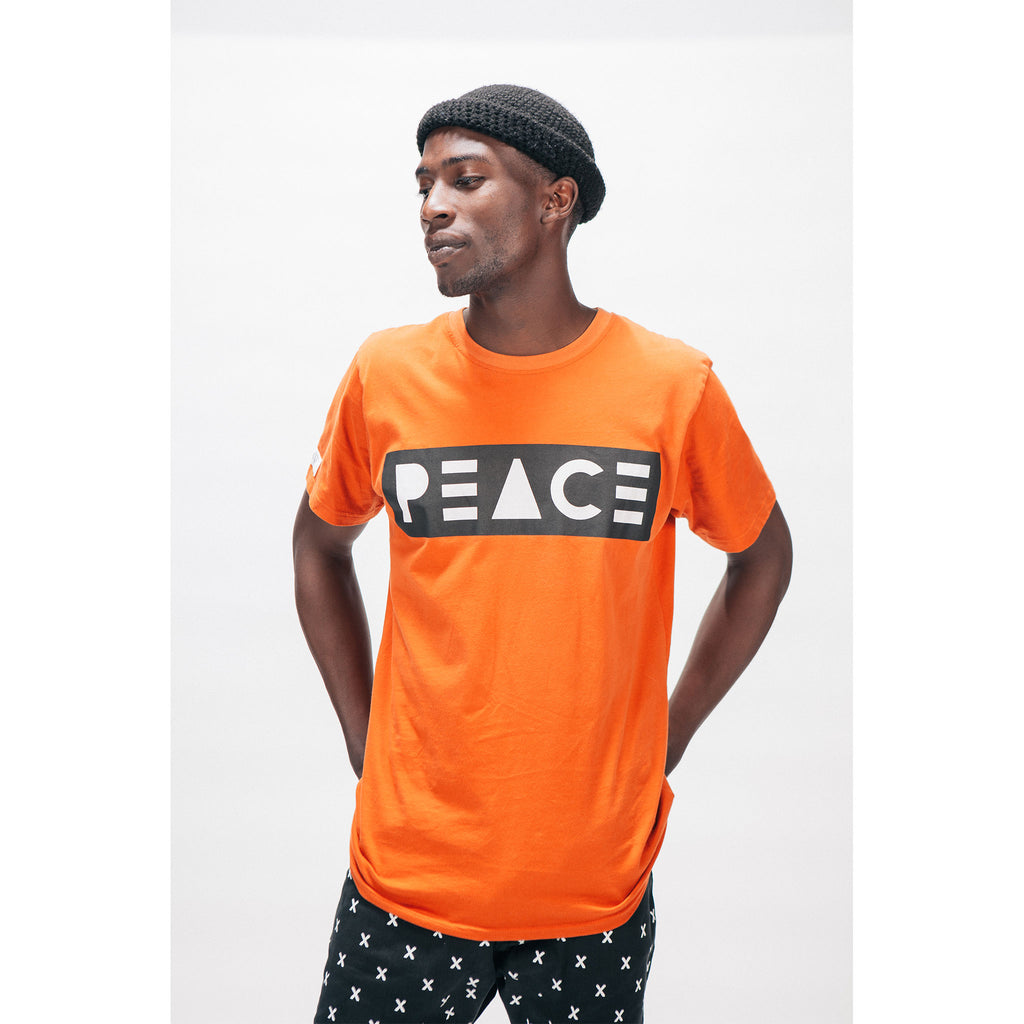 Classic Tee T-Shirt PEACE Logo Burnt Orange Outernational PEACE FITS