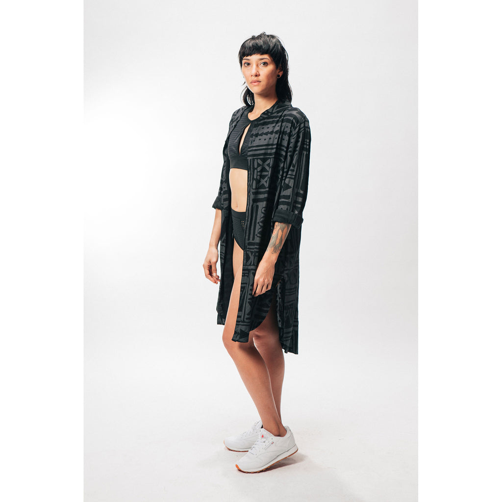 BUTTON UP TUNIC [X-TRiBE] - PEACE FITS