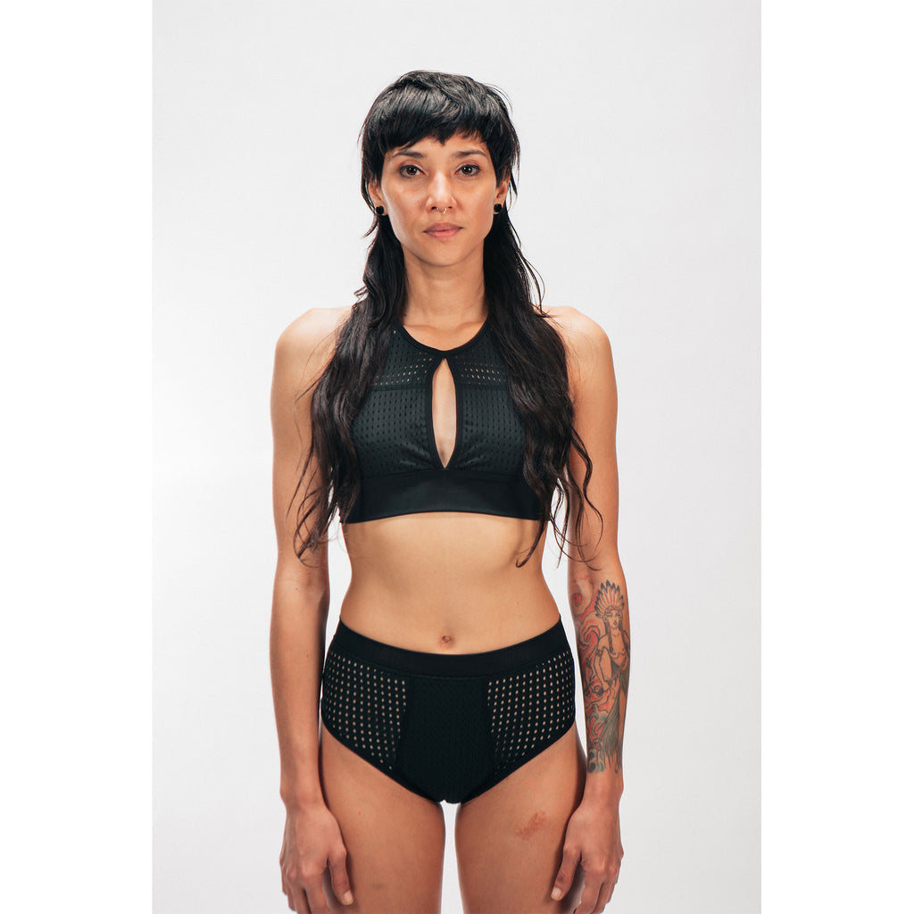 MESH SWIMSUIT BOTTOM - PEACE FITS