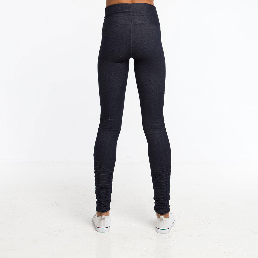 Women's Bottoms - MOTO LEGGING - Dark Denim - PEACEfits