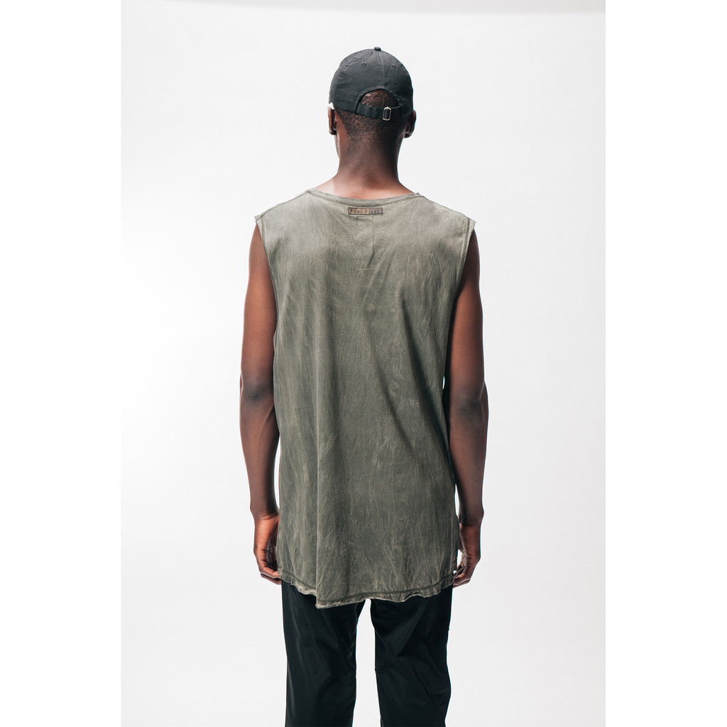 MUSCLE TEE [Oil Wash] - PEACE FITS