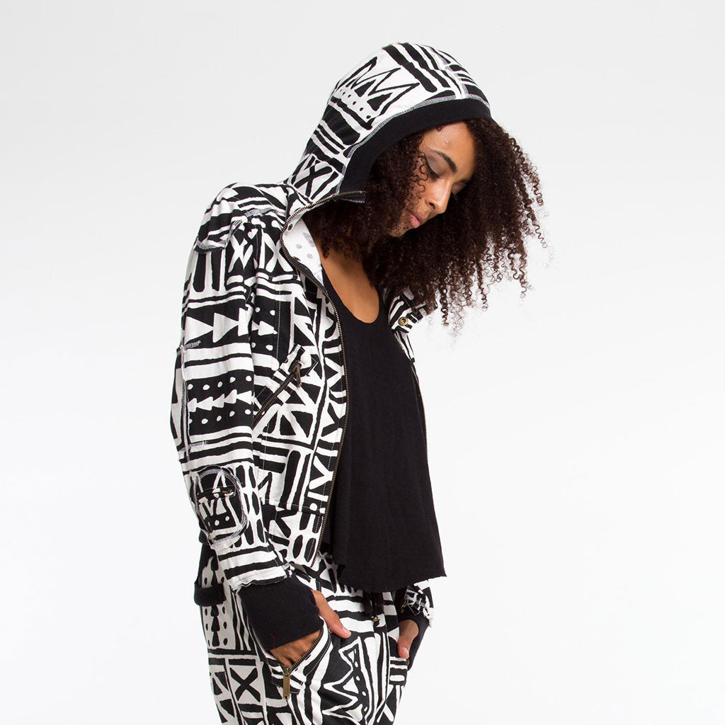 Women's Outerwear - LADY SAMURAI HOODIE - X-TRiBE - White/Black - PEACEfits